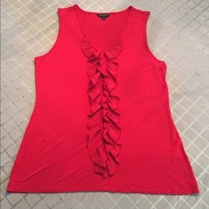 🌹Banana Republic XL solid red sleeveless top 🌹